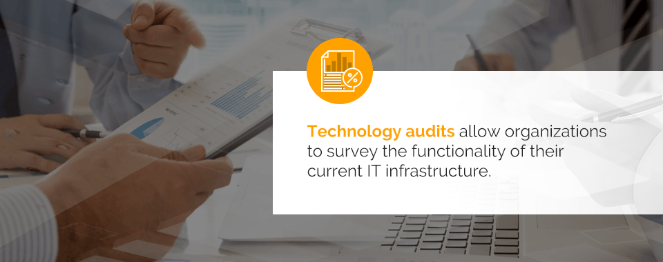 Technology audit survey and analysis services