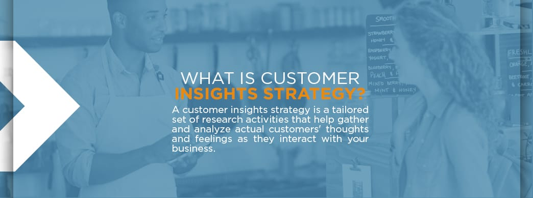 Customer insights strategy definition