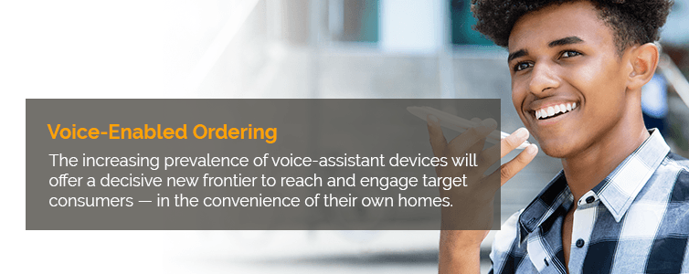 Voice-Enabled Ordering Trends Consumer goods